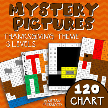 Thanksgiving Math Mystery Pictures {120 Chart} *DIFFERENTIATED*