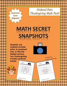 Thanksgiving Math Mystery Pictures Ordered Pairs