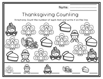 Thanksgiving Math No-Prep Printables & Activities