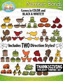 Thanksgiving Math Number Bonds Clipart {Zip-A-Dee-Doo-Dah Designs}