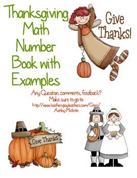 Thanksgiving Math Number Book