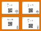 Thanksgiving Math: One Step Equations (Multiplication & Division) QR Task Cards