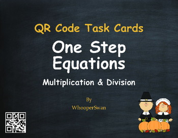 Thanksgiving Math: One Step Equations (Multiplication & Di