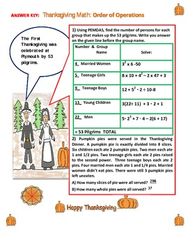 Thanksgiving Math: Order of Operations