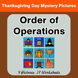 Order of Operations - Color-By-Number Thanksgiving Math Mystery Pictures