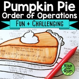 Thanksgiving Math: Order of Operations, Secondary