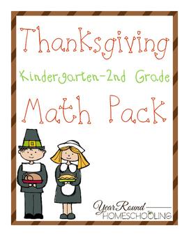 Thanksgiving Math Pack (K-2)