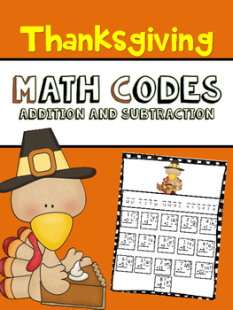 Thanksgiving Math Pack with Secret Codes