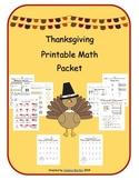 Thanksgiving Math Packet