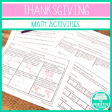 Thanksgiving Math Packet - Common Core Standards