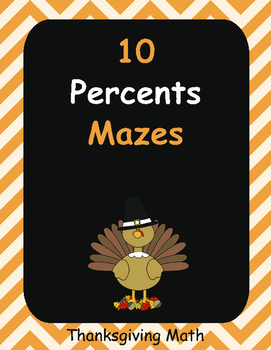 Thanksgiving Math: Percents Maze