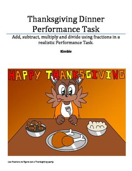 Thanksgiving Math Performance Task