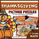 Thanksgiving Math Picture Puzzles {1st Grade}