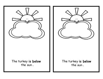 Thanksgiving Math Positional Words