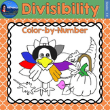 Divisibility Math Practice Thanksgiving Color by Number