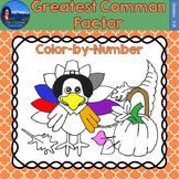 Greatest Common Factor (GCF) Math Practice Thanksgiving Co