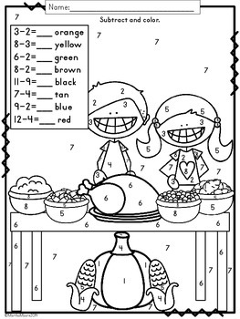 Thanksgiving Math: Print and Go Pack {First and Second Grade}