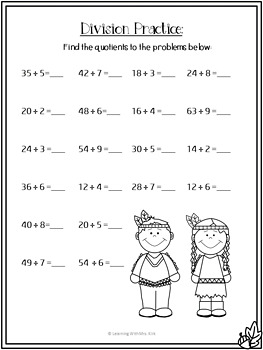 Thanksgiving Math Printable Pages and Word Problems