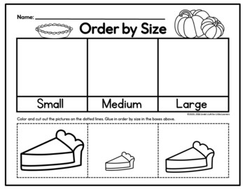 Thanksgiving Math Preschool Printables