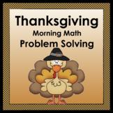 Thanksgiving: Math Problem Solving
