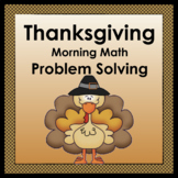 Thanksgiving: Math Problem Solving