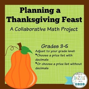 Thanksgiving Math Project