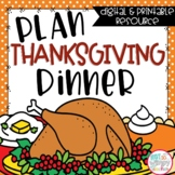 Thanksgiving Math Project Based Learning Printable and Digital Activity