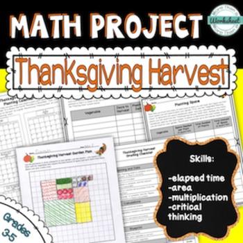 Thanksgiving Math Project {Plan a Harvest & Design a Garden}