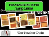 Math Task Cards- Thanksgiving Themed