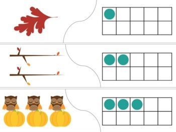 Thanksgiving Math Puzzles featuring Tally Marks, Ten Frames and more
