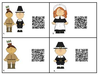 Thanksgiving Math QR Code Hunt