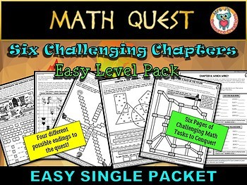 Thanksgiving Math Quest Activity (EASY Level Single Packet)