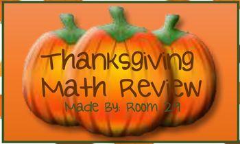 Thanksgiving Math Review