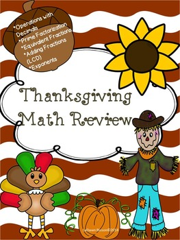 Thanksgiving Math Review