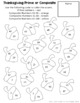 Thanksgiving Math Review Coloring Pages TEKS 6.2B, TEKS 6.