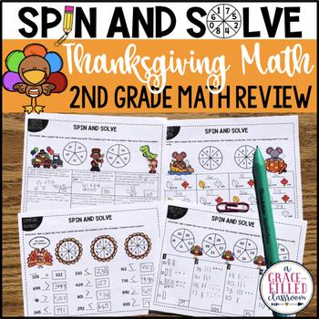 Thanksgiving Math Review (Second Grade)