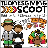 Thanksgiving Math SCOOT!  {+/- to 20}