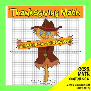 Thanksgiving Math - Scarecrow Coordinates
