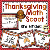 3rd Grade Thanksgiving Math Activities: 3rd Grade Thanksgiving Math Scoot