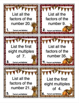 Thanksgiving Math Scoots - 4th Grade