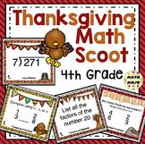 4th Grade Thanksgiving Math Activities: 4th Grade Thanksgiving Math Scoot