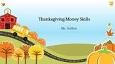 Thanksgiving Math Skills
