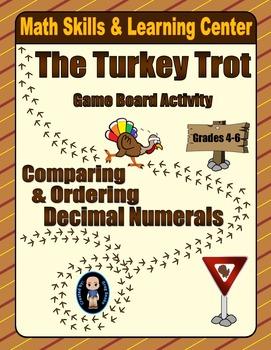Thanksgiving Math Skills & Learning Center (Compare & Order Decimals)