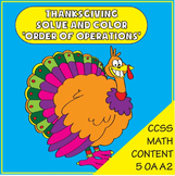 Thanksgiving Math - Solve and Color - Order of Operations