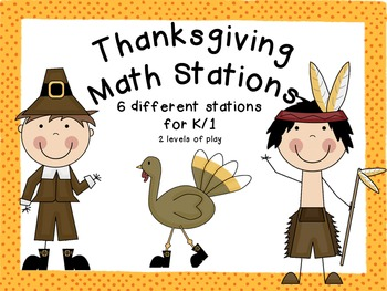 Thanksgiving Math Stations {Six Different Games!)