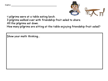Thanksgiving Math Story Problem
