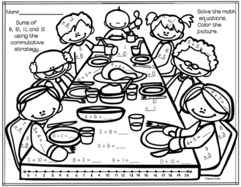 Thanksgiving Math Strategies Printables
