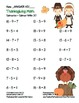 """""""Thanksgiving Math"""" Subtract Within 20 Common Core Subtraction Fun! (full color)"""