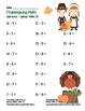 """Thanksgiving Math"" Subtract Within 20 Common Core Subtraction Fun! (full color)"