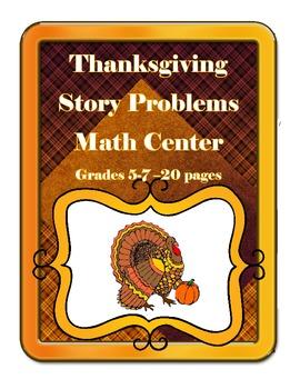 Thanksgiving Math Task Card Turkeys